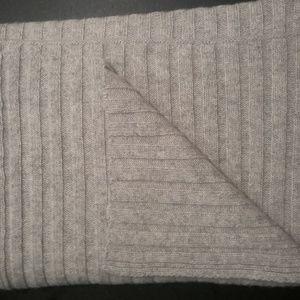 GAP Rib Knit Cashmere Scarf Heather Grey OS